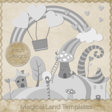 Magical Land Layered Templates by Josy
