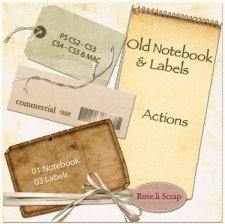 Action - Old Notebook & Labels II by Rose.li