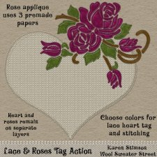 Lace & Roses Tag Action by Karen Stimson