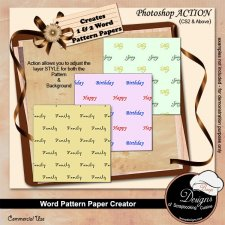 Word Pattern Paper Creator ACTION by Boop Designs