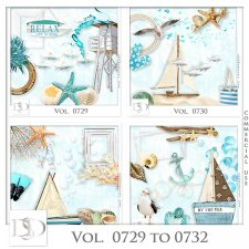 Vol. 0729 to 0732 Summer Sea Mix by D's Design