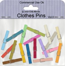 Clothes Pins Vol II by Cida Merola