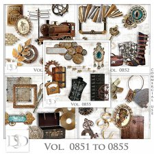 Vol. 0851 to 0855 Steampunk Mix by D's Design