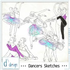 Dancers Sketches by Doudou Design