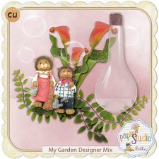 My Garden Glass Tutorial EXCLUSIVE by PapierStudio Silke
