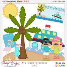 Two Tickets to Paradise Layered Element Templates