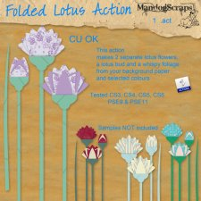 Folded Lotus Action by Mandog Scraps