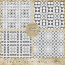 Layered Paper Templates 10 by Josy
