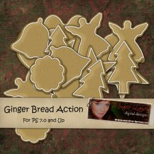 Gingerbread Action by Monica Larsen