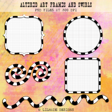 Altered art frames and swirls templates Lilmade Designs