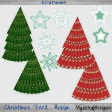 Christmas Trees 2 Action by Mandog Scraps