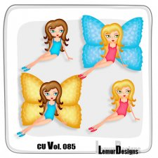 CU Vol 085 Butterfly Girls by Lemur Designs