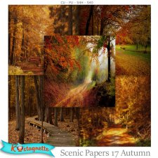 Scenic papers 17 Autumn by Kastagnette