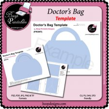 Doctor's Bag TEMPLATE by Boop Printable Designs