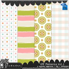 Pattern Template Paper vol 01 by Peek a Boo Designs
