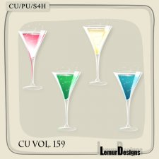 CU Vol 159 Champagne Glasses by Lemur Designs