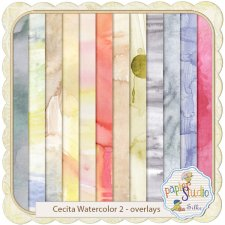 Cecita Watercolor 2 - Overlays EXCLUSIVE by PapierStudio Silke
