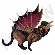 Vol. 0549 Steampunk Cats Characters by D's Design