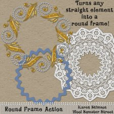 Round Frame Action by Karen Stimson