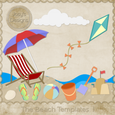 The Beach Layered Templates 1 by Josy