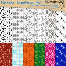 Pattern Templates Set 01 by Mandog Scraps