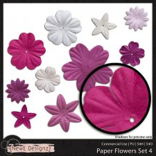 EXCLUSIVE Paper Flowers Set 4 by NewE Designz