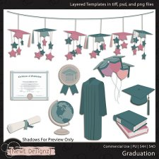 EXCLUSIVE Layered Graduation Templates By NewE Designz