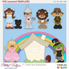 Over the Rainbow Layered Element Templates