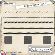 Brushes Stitches Set 2 by Cida Merola