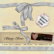 Sloppy Bows - PNG format by Monica Larsen
