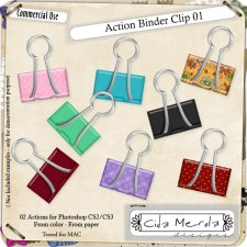 Binder Clip 01 Action by Cida Merola