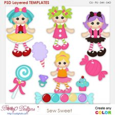 Sew Sweet Layered Element Templates