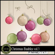 Christmas Baubles Vol.3 elements CU4CU