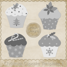 Christmas Cupcake 1 Layered Templates by Josy