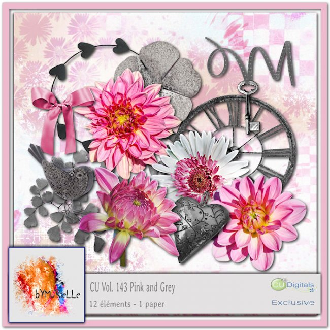 vol 143 Pink and Grey Elements EXCLUSIVE bymurielle
