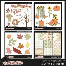 EXCLUSIVE Layered Fall Templates BUNDLE by NewE Designz