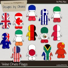 Wee Ones - Flags - EXCLUSIVE Designs by Ohana