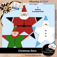 Christmas Stars ACTION by Boop Designs