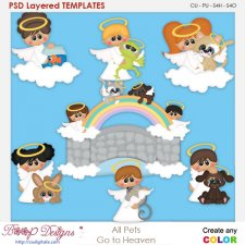 All Pets Go To Heaven Layered Element Templates