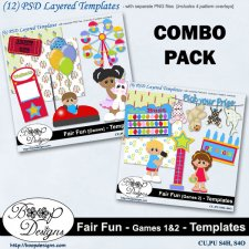 Fair Fun - Games BUNDLE TEMPLATES by Boop Designs