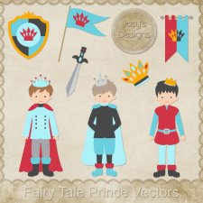 Fairy Tale Prince Layered Vector Templates by Josy