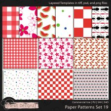 EXCLUSIVE Layered Paper Patterns Templates Set 19 by NewE Designz
