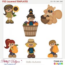 Hello Autumn Element Templates