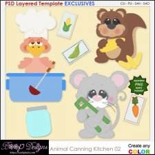 Animal kitchen Canning 02 - EXCLUSIVE TEMPLATES