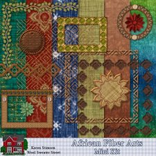 African Fiber Arts Mini Kit by Karen Stimson