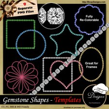 Gemstone Shapes TEMPLATES by Boop Designs