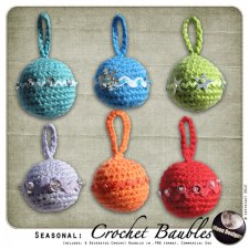 Seasonal: Crochet Baubles by MoonDesigns