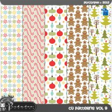 Christmas Pattern Template Paper vol 09 by Peek a Boo Designs