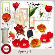 EXCLUSIVE Spring 3 mini kit by Happy Scrap Arts