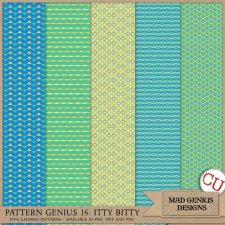 Pattern Genius Paper Volume Sixteen by Mad Genius Designs